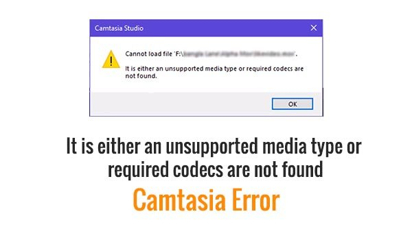 It is either an unsupported media type or required codecs are not found