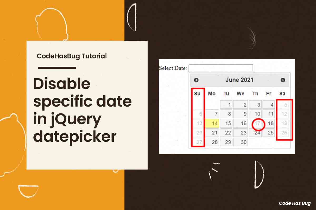 Disable specific date in jQuery datepicker