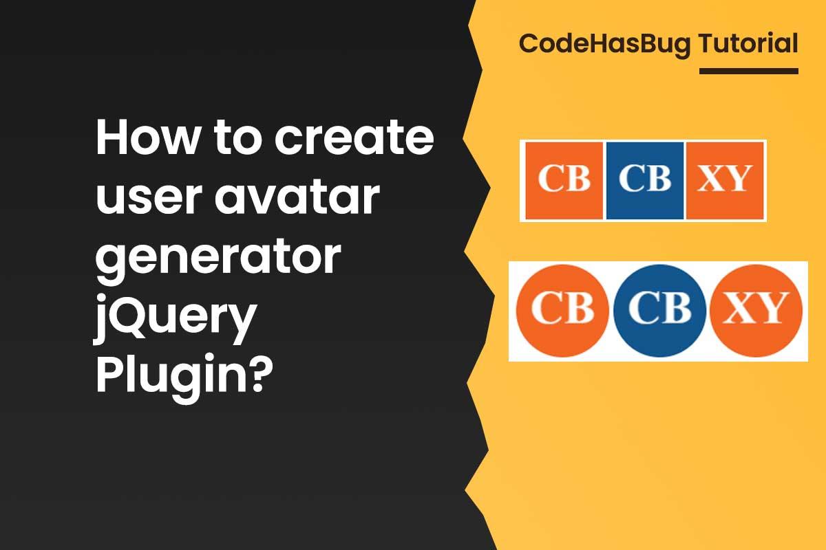 How to create user avatar generator jQuery Plugin?