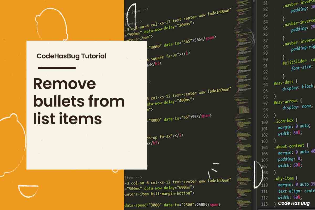 Remove bullets from list items