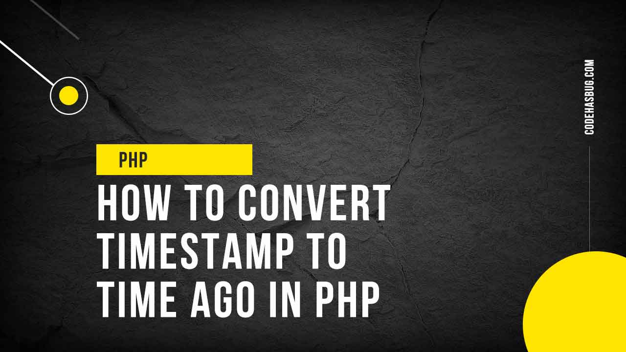 How to convert timestamp to time ago in PHP