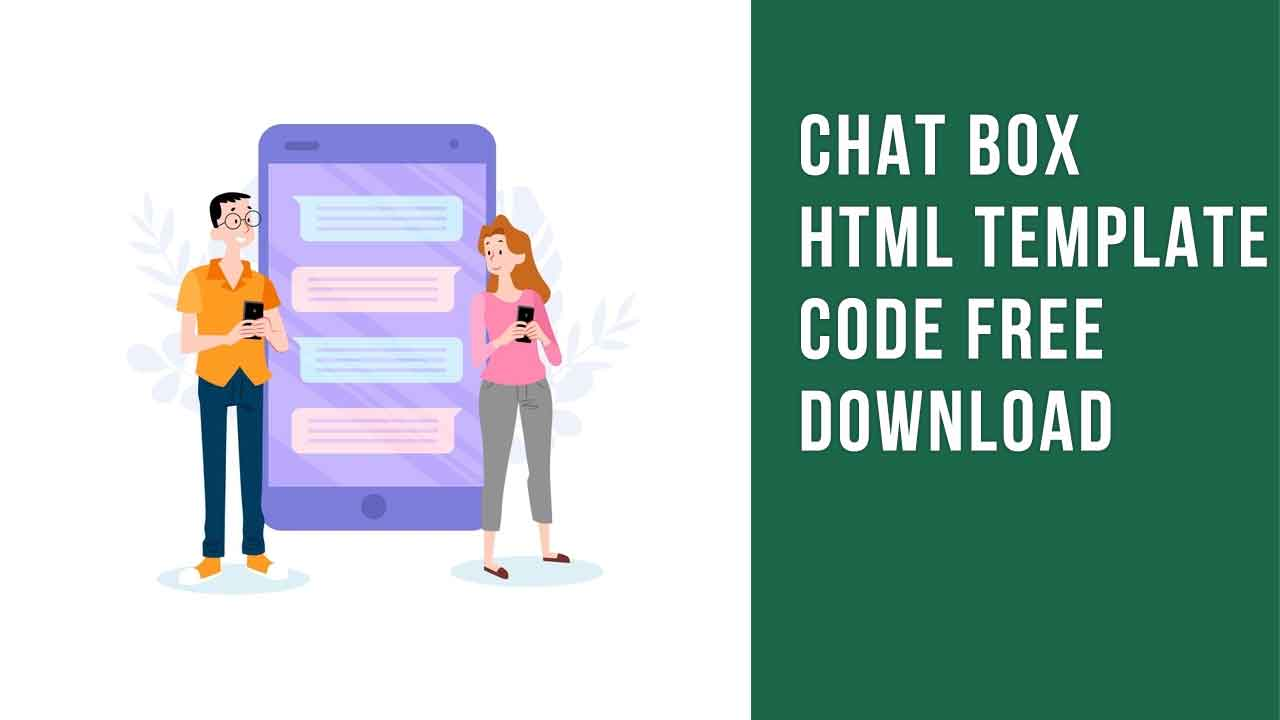 chat box HTML code free download