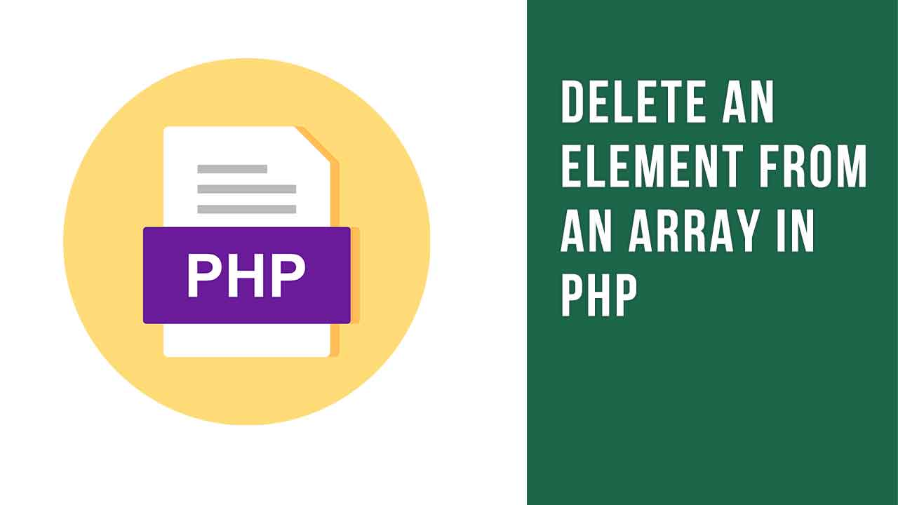 Delete an Element From an Array
