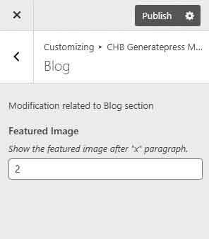 Steps to change featured image position from customizer