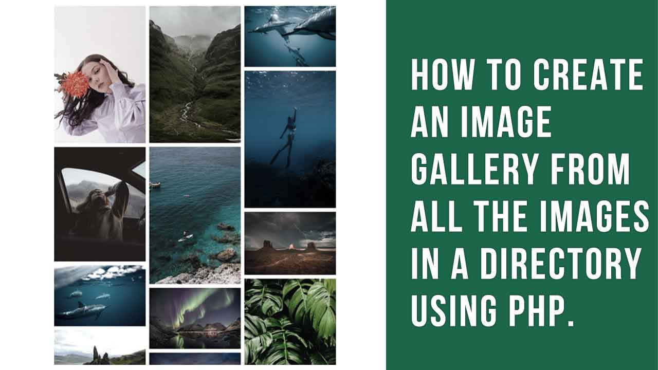 How to create an image gallery from all the images in a directory using PHP.