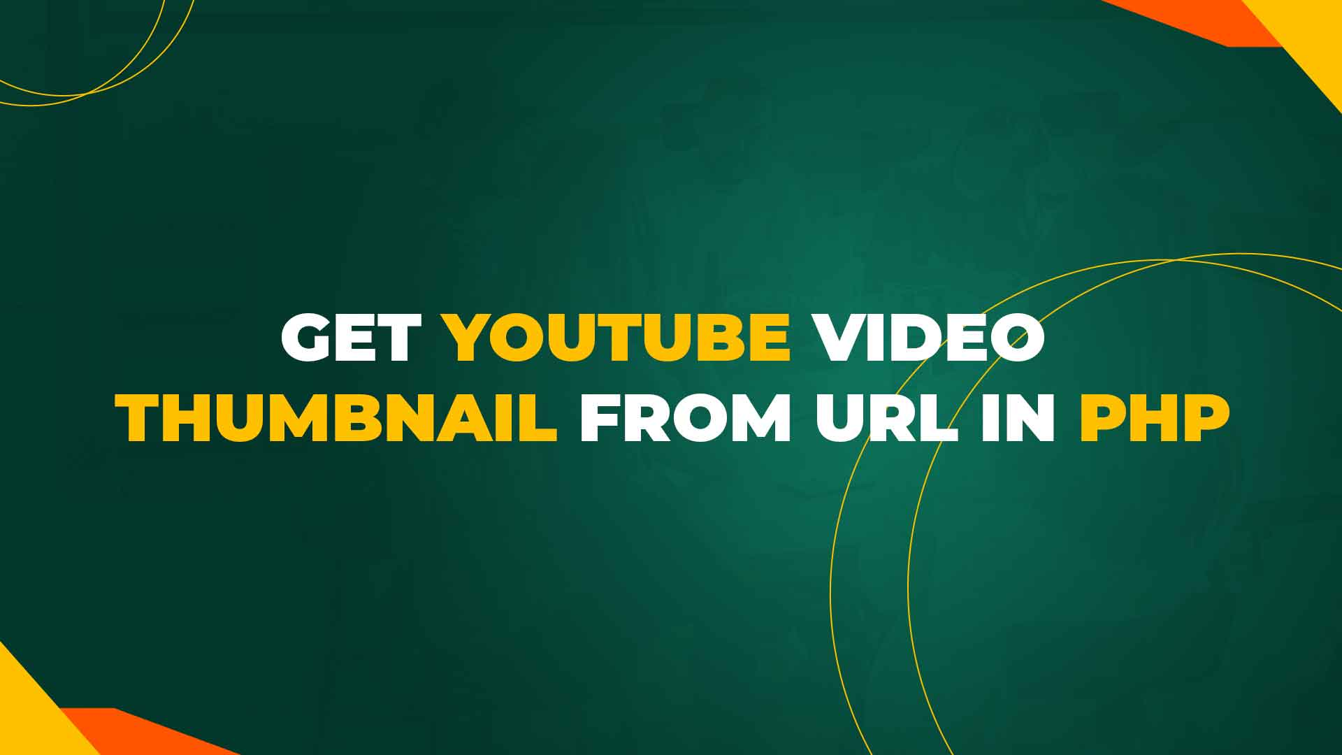 Get YouTube Video Thumbnail from URL in PHP