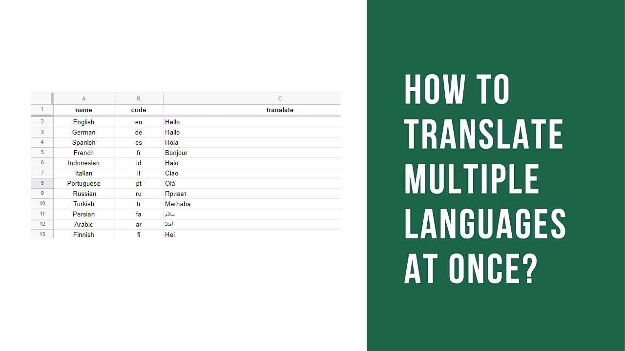How to translate multiple languages at once?
